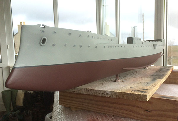 Completed hull