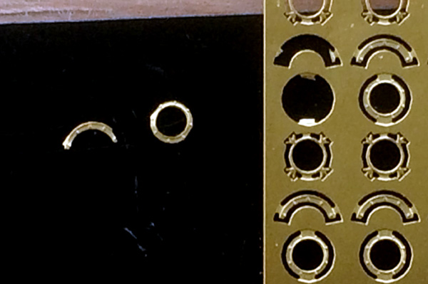 Close up of the parts with a small section of the fret