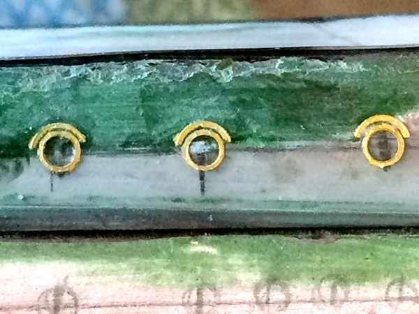 Just a few of the fixed port holes completed today