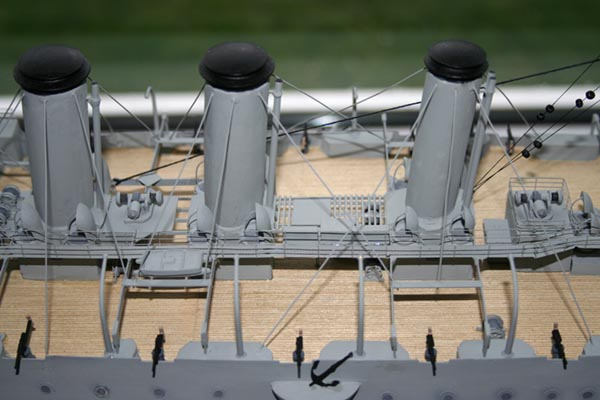 Mid section of the boat deck